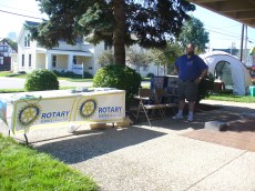 Rotary Club booth at the 2013 Kids Health & Safety Fun Day
