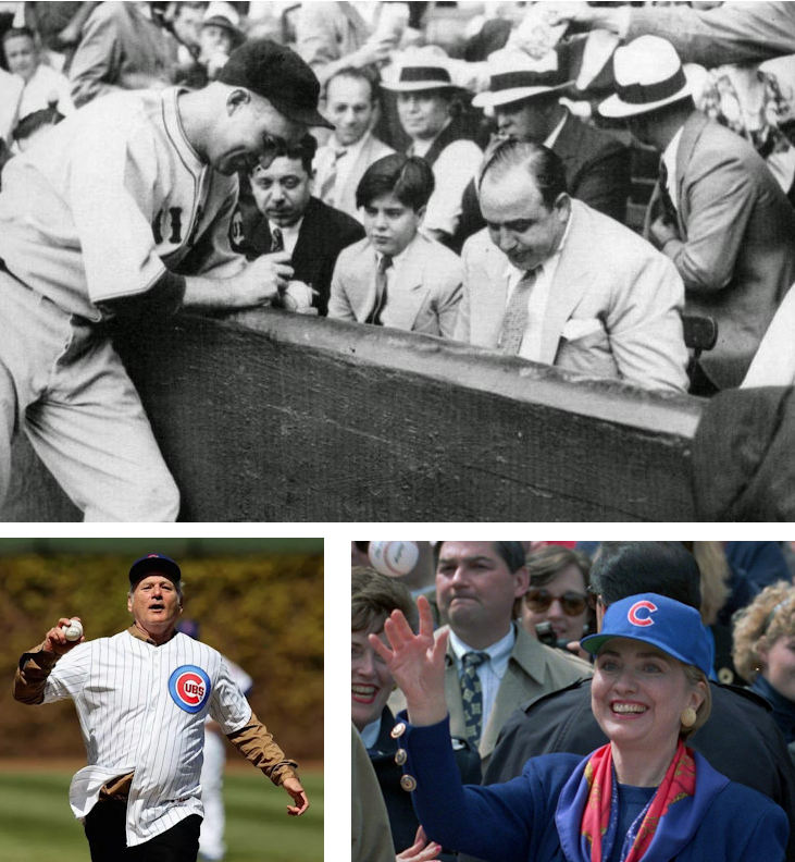 Al Capone watching the Cubs