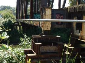 Graffiti on old Railroad Trestle over Green River
