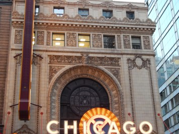 1920s style Chicago Theater center window