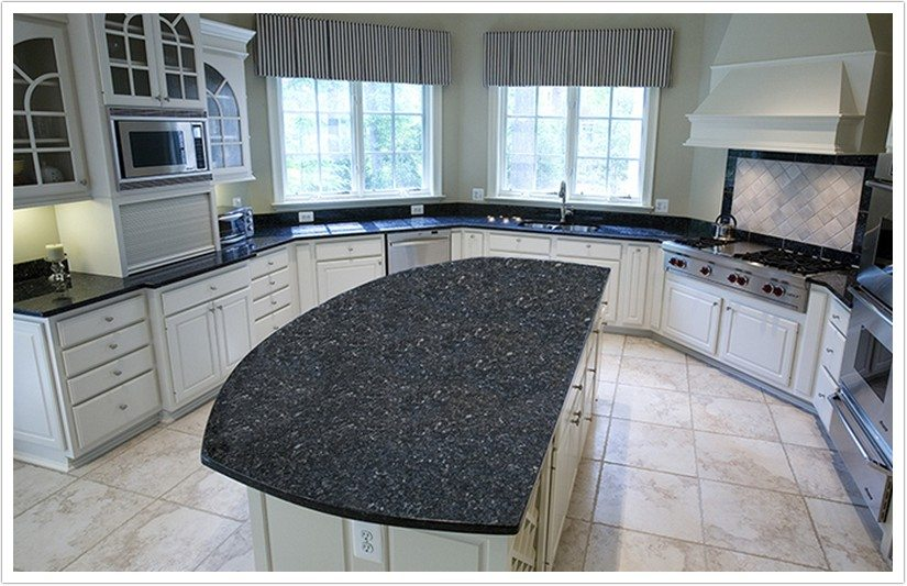 Deep Blue Pearl Granite Denver Shower Doors
