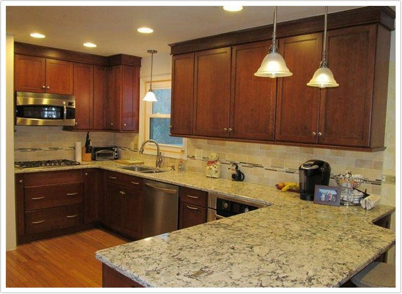 Dark Brown Kitchen Cabinets