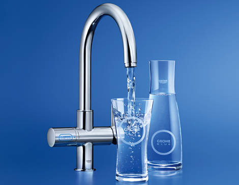 grohe 31608002 blue kitchen faucet