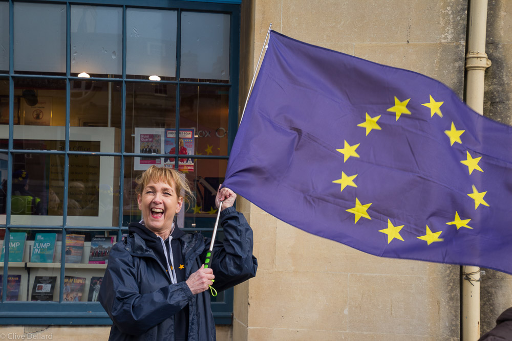 Blanket Bath with EU Flags on Tuesday, 9th May