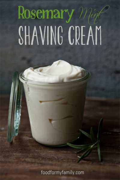 DIY Rosemary Mint Shaving Cream