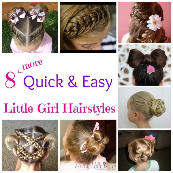 Terrific 8 More Quick Amp Easy Little Girl Hairstyles Bath And Body Short Hairstyles Gunalazisus