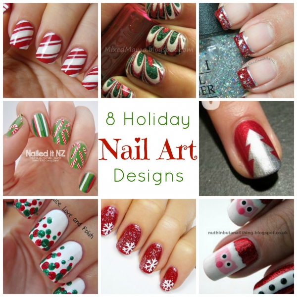 8 Holiday Nail Art Designs Bath And Body