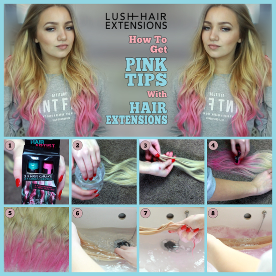 6 Pink tips collage