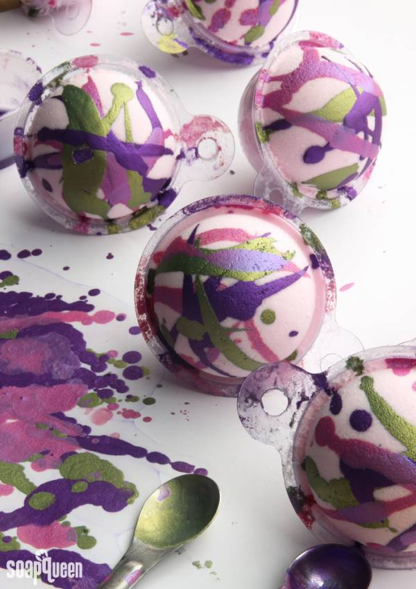Hand Painted Mica Bath Bombs
