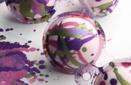 Hand Painted Mica Bath Bombs