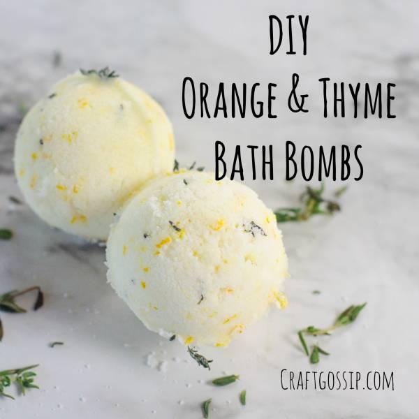 DIY Orange And Thyme Bath Bombs