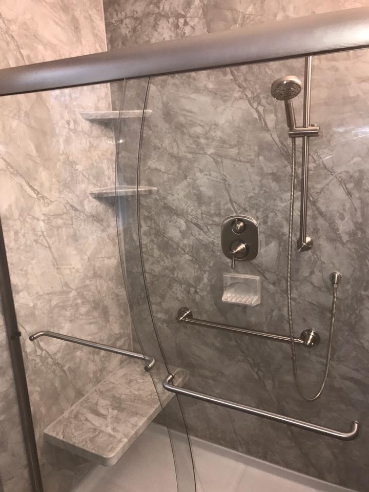 vinyl shower walls and new shower installation