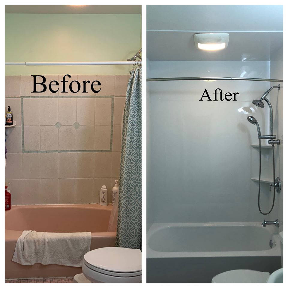 before and after pictures of the bathroom remodel