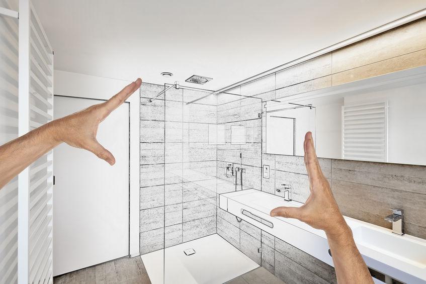 Planned renovation of a Luxury modern bathroom
