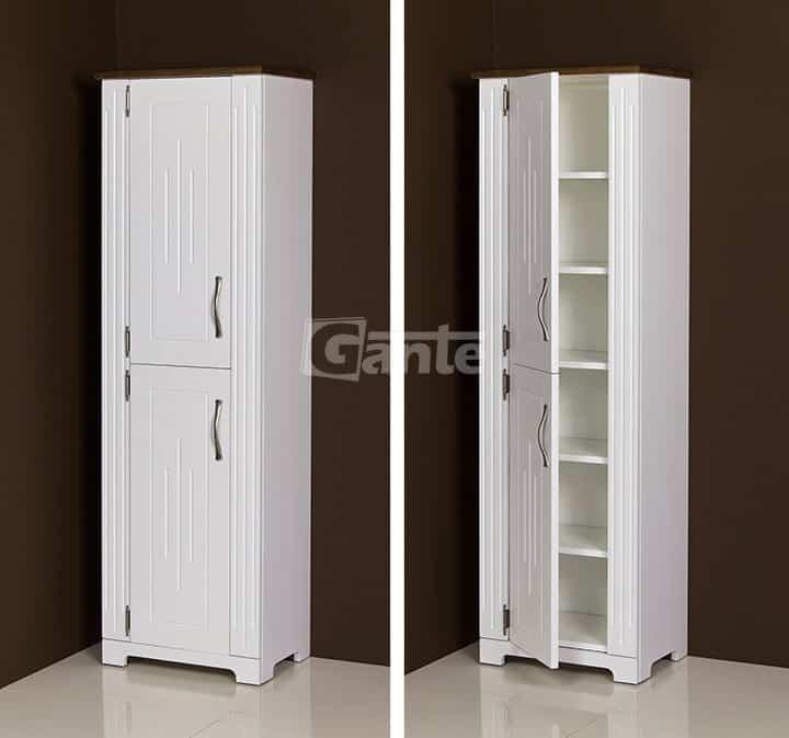 Tall Storage Unit ANT-N-RW brown top