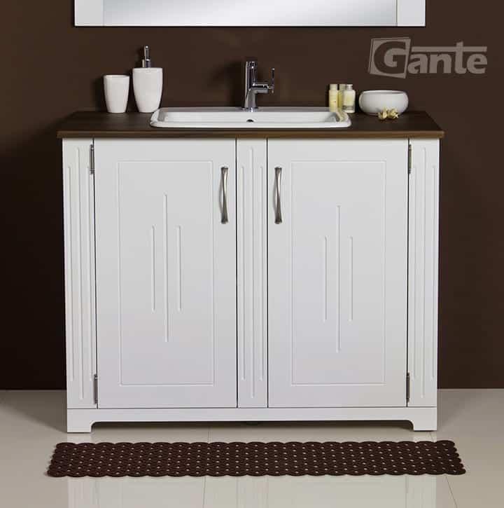 White vanity unit 100 cm