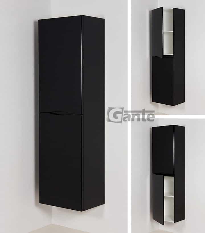 Tall storage unit black