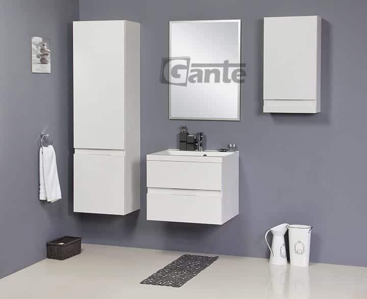 White vanity unit 60cm