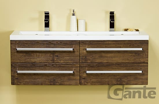 vanity unit 120cm antique wood four drawers