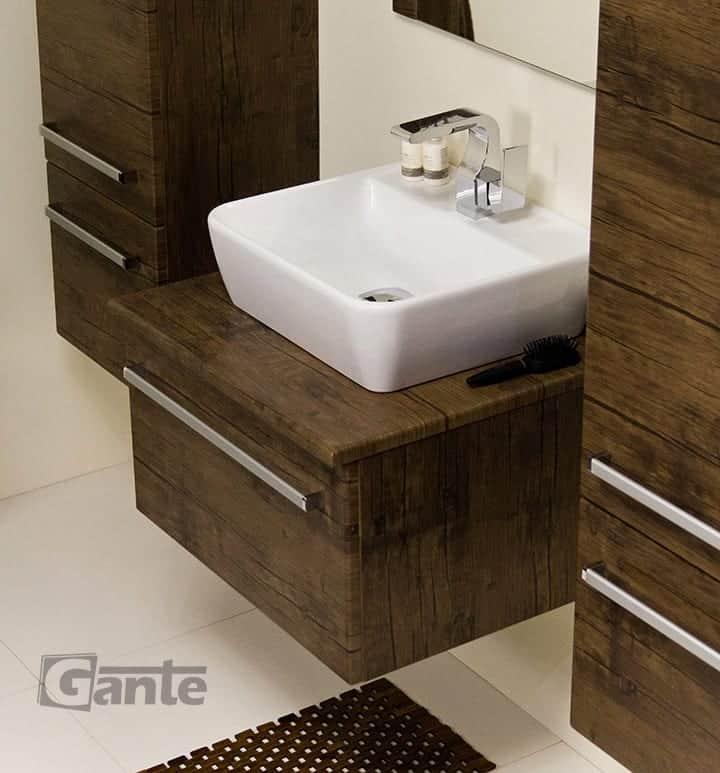 vanity unit 60 cm antique wood