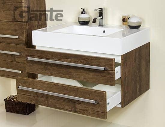 vanity unit 80 cm antique wood
