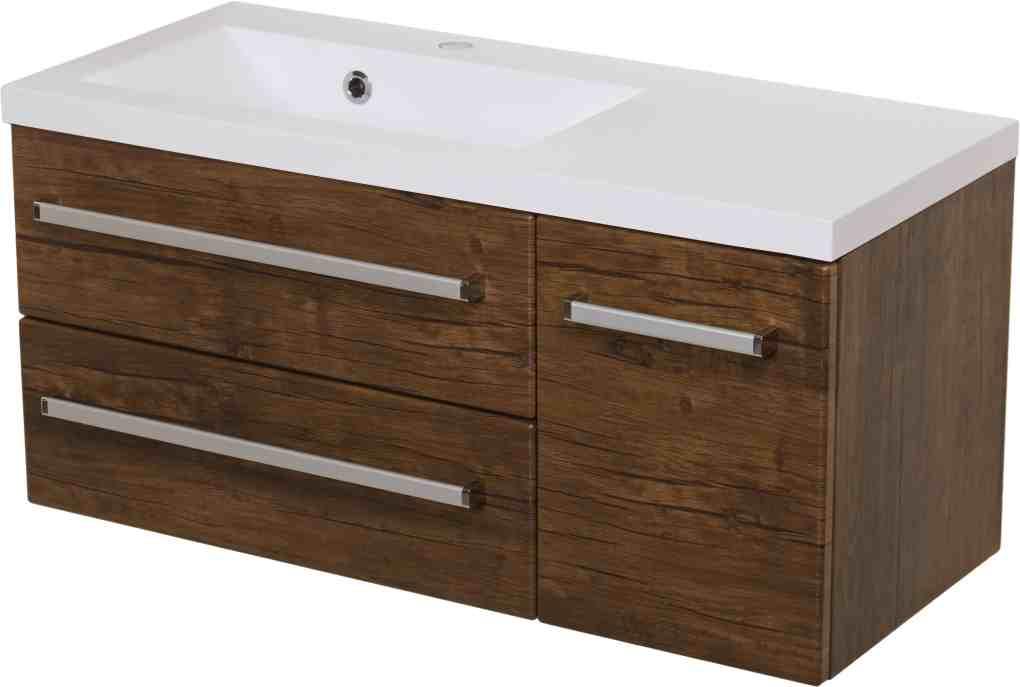vanity unit 90cm antique wood