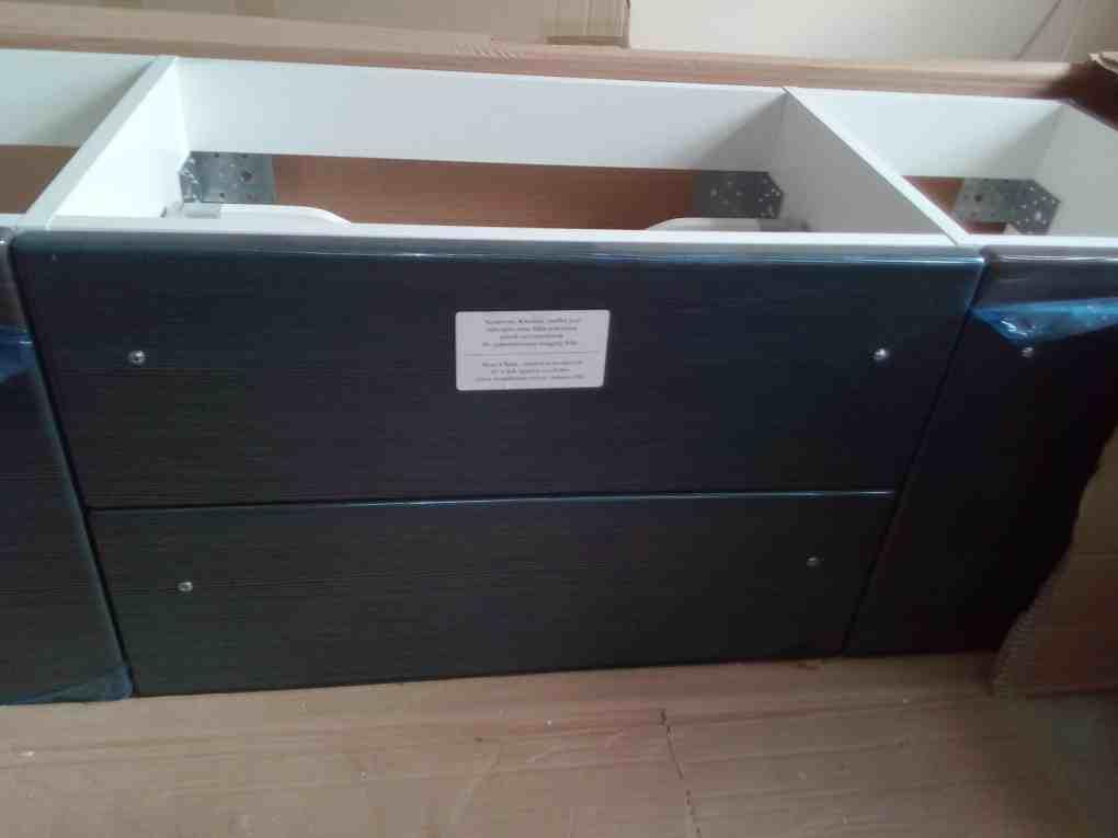 Vanity unit in a box
