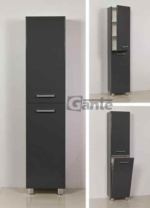 grey tall storage unit 40 cm, with basket