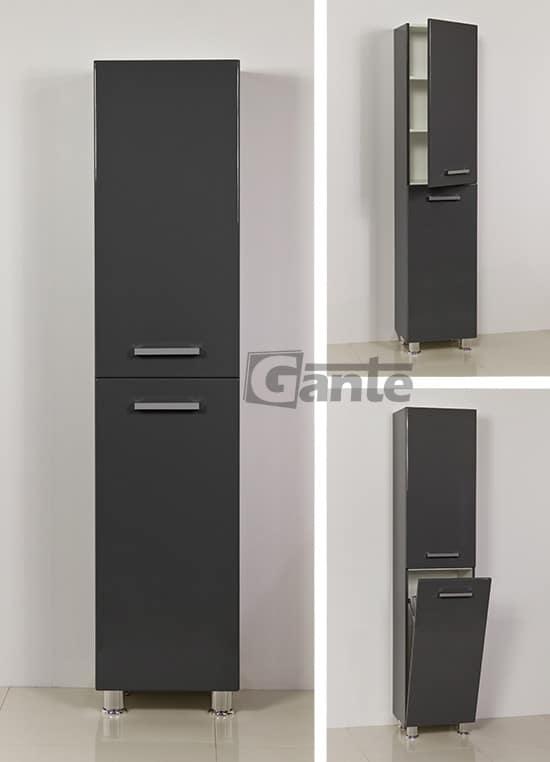 grey tall storage unit 40 cm