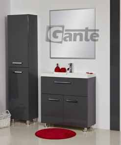 grey vanity unit 80 cm