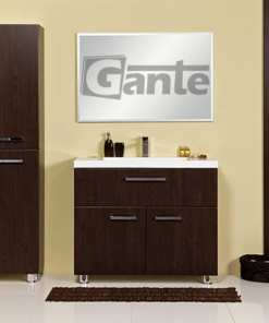walnut vanity unit 100 cm