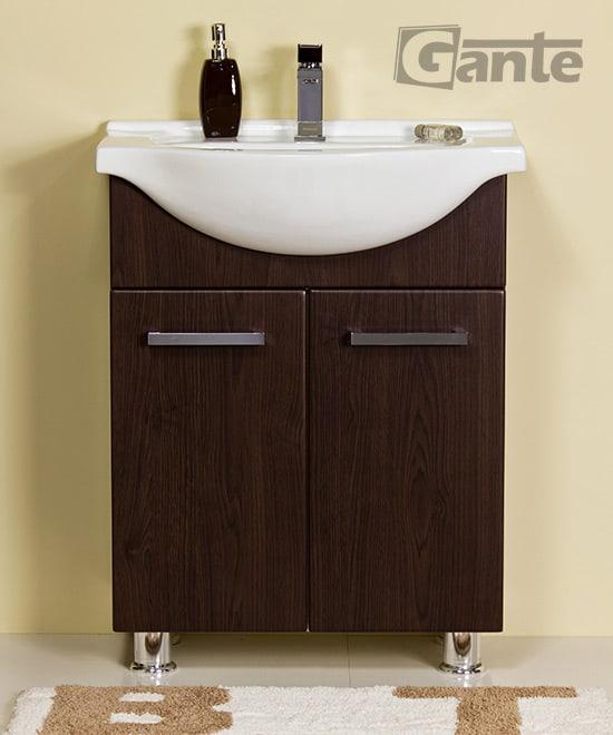 walnut vanity unit 60 cm
