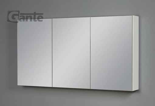 white cabinet with mirror
