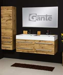 vanity unit 120cm oak