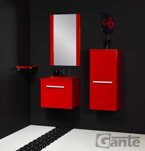 vanity unit 50cm red