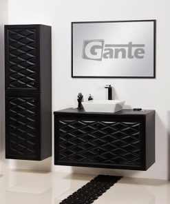 vanity unit black 100cm