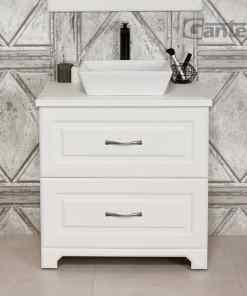 Vanity unit white, floor standing