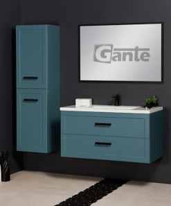 Vanity unit in blue
