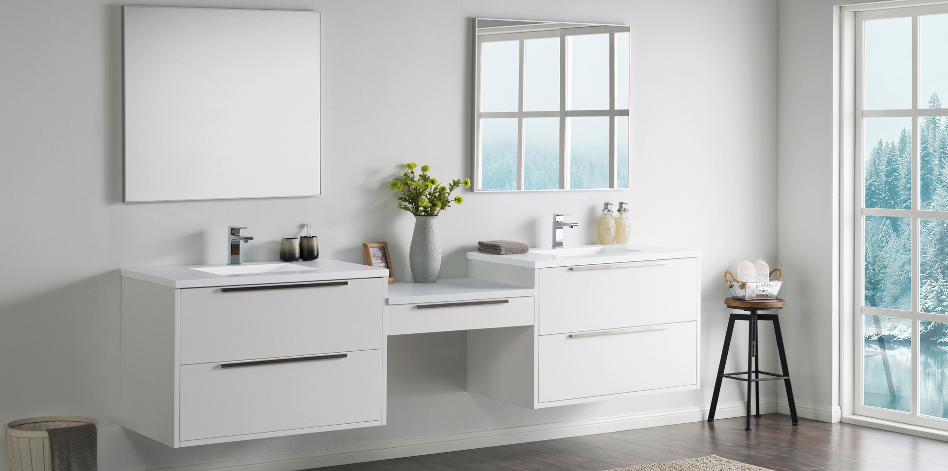 Modern Bathroom Vanities, Cabinets & Faucets