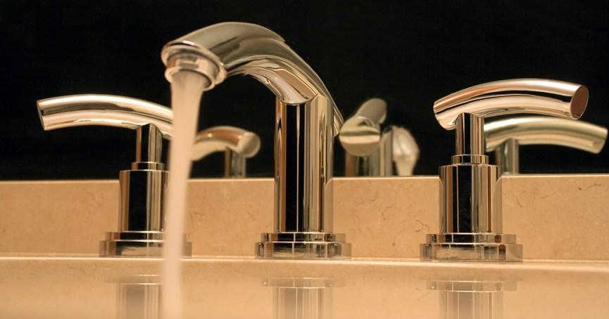 Elegant modern bath taps