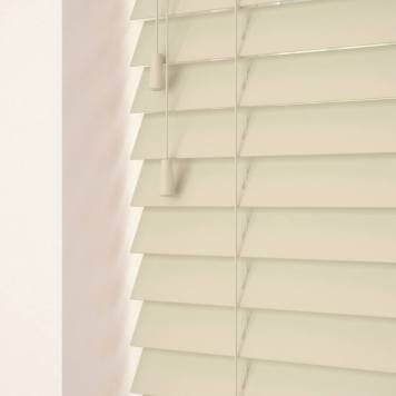 35mm Primary Wood Venetian Blinds Parchment