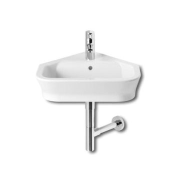 Roca -The Gap 480Mm Wall Mounted Corner Basin With Wall Fixing Kit -1