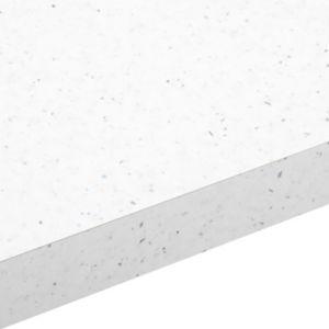 28mm Astral White Gloss Square edge Laminate Worktop (L)2m (D)365mm