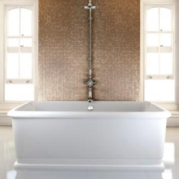 Burlington London Rectangle Soaking Tub Freestanding Bath - 1800 x