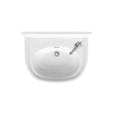 Arcade 500mm Cloakroom Basin With Chrome Overflow