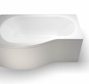 Britton Ecoround 1500mm Shower Bath Left Handed White - R19