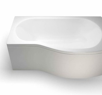 Britton Ecoround 1500mm Shower Bath Right Handed White - R20