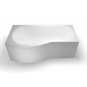 Britton Ecoround 1700mm Shower Bath Left Handed White - R21