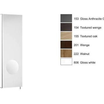 Roca - Luna 200Mm Mirror Cabinet Rh, Integrated Magnifying Mirror - Textured Oak
