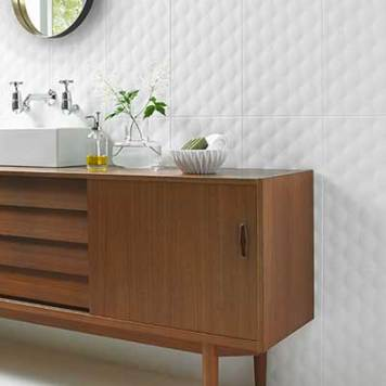 Ted Baker TacTile White 298mm x 498mm Wall Tile 8 Per Pack - BCT45786
